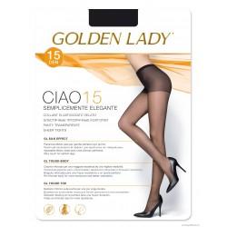 Collant elasticizzato velato 15 denari Ciao 15 Golden Lady
