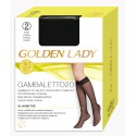 Gambaletto velato con bordo comfort 20 denari. Gambaletto 20 Golden Lady