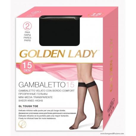 Gambaletto elasticizzato velato 40 denari. Velato 40 Golden Lady
